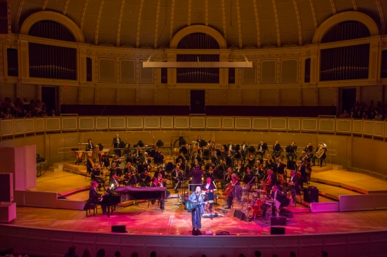 Melissa Etheridge and the CSO_Full Stage View_Corporate Night 2014_credit_ Todd Rosenberg