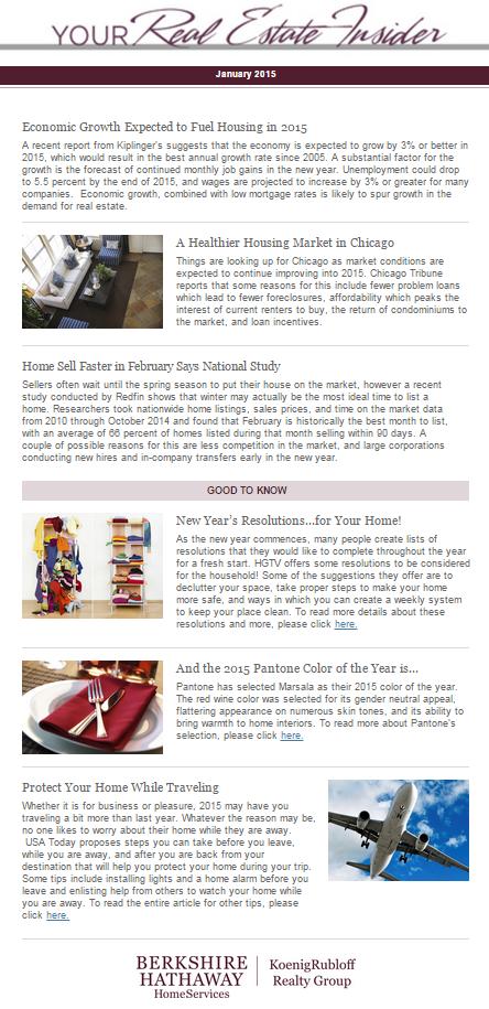 Your Real Estate Insider Jan 2015