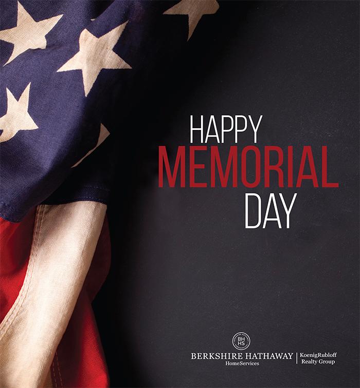 Happy Memorial DayWeekend!