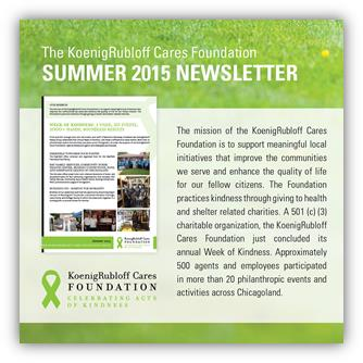 KoenigRubloff Cares Foundation Newsletter June 2015