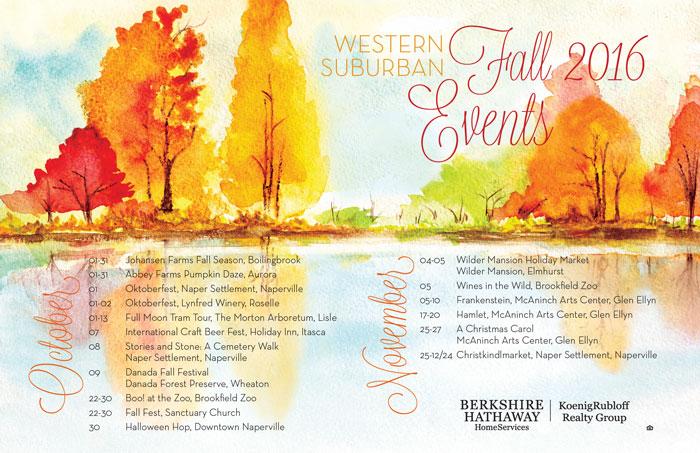 Western Suburban Fall 2016Events!