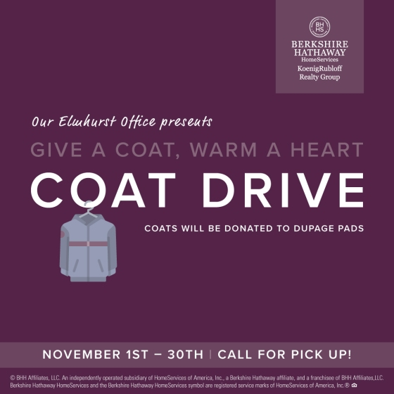 Elmhurst Office Collects Coats for DuPagePads!