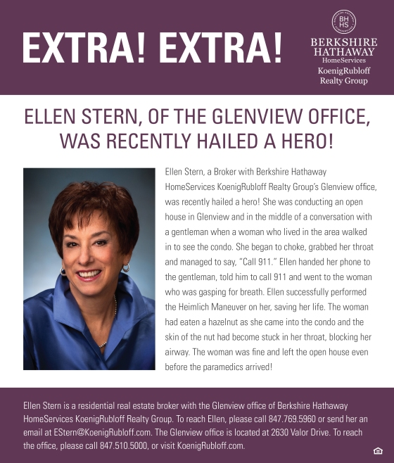 Glenview Broker Ellen Stern Hailed a Hero!