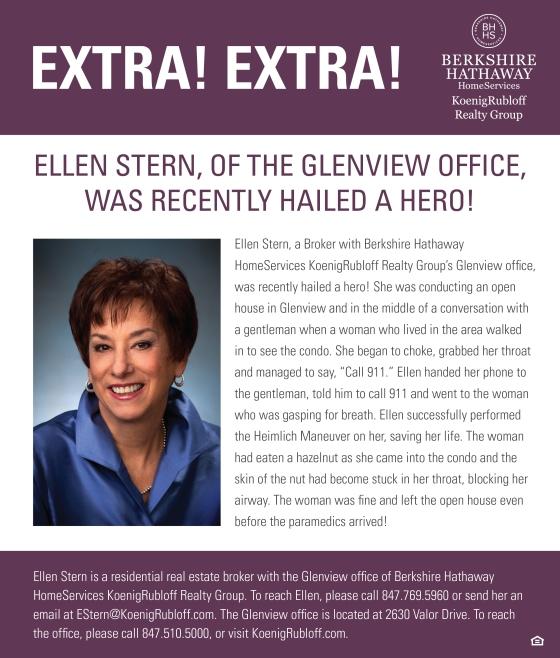 Glenview Broker Ellen Stern Hailed aHero!