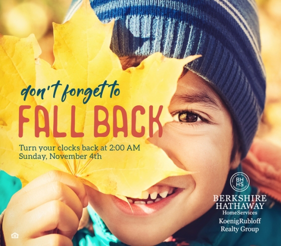 Don't Forget to Fall Back This Sunday!
