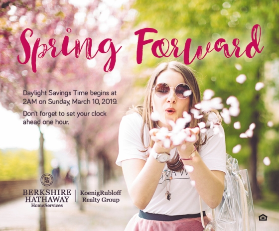 Don't Forget to Spring Forward March 10th!