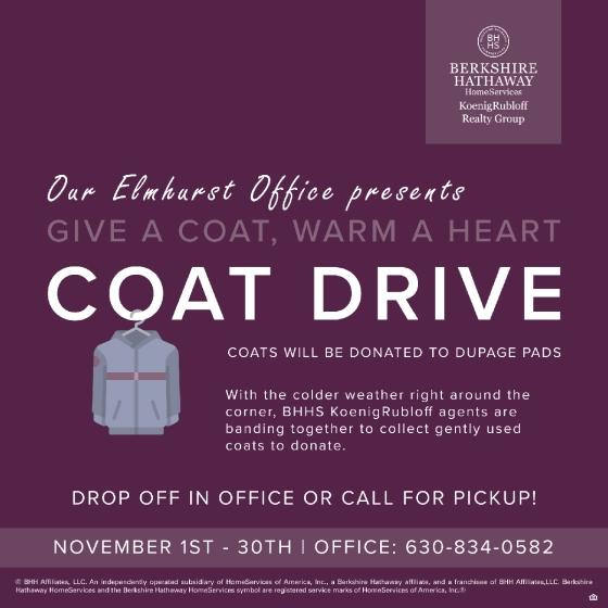 Elmhurst Presents Give A Coat, Warm aHeart!